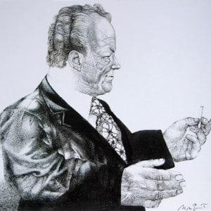 Willy Brandt - Zeichnung für die NYT, 1971