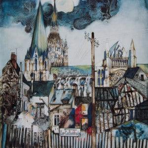Chartres - Tempera, Aquarell, 1964