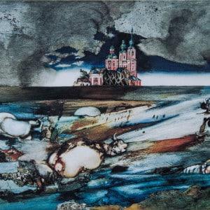 Erinnerung an das Hochwasser der Drau Tempera - Aquarell, 1966