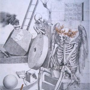 Melancholie - Bleistift, Aquarell, 1982