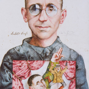 Bertolt Brecht - Federzeichnung, 1983
